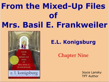 From The Mixed Up Files of Mrs. Basil E Frankweiller for Promethean Board Ch. 9