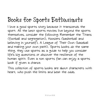 From My Bookshelf--Books for Sports Enthusiasts