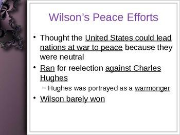 World War I - From Neutrality to War PowerPoint
