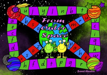 From Outer Space Alphabet Board Game