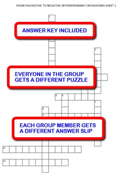 From Paleolithic to Neolithic: Interdependent Crossword Puzzles Activity