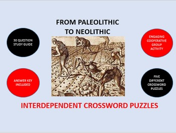 From Paleolithic to Neolithic: Interdependent Crossword Pu