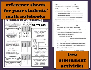 From Place to Place place value relationships task cards + printables (set b)