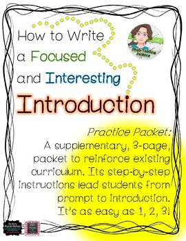 From Prompt to Paragraph - How to Write Introductions