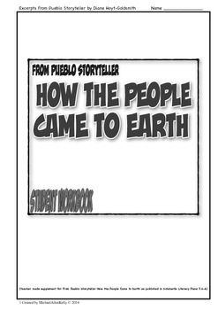 From Pueblo Storyteller, How the People Came to Earth Stud