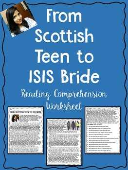 From Scottish Teen to ISIS Bride Reading Comprehension, Terrorism, Syria, Iraq