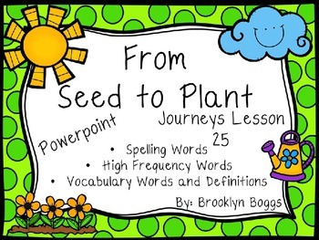 From Seed To Plant Powerpoint - Second Grade Journeys Lesson 25