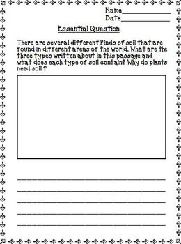From Seed to Plant Journeys 2nd Grade Unit 5 Lesson 25 Activities & Printables