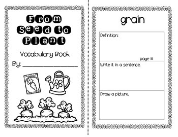From Seed to Plant Journey's Activities - Second Grade Lesson 25