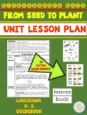 From Seed to Plant Kindergarten Unit Lesson PLan for Louisiana K-2 Guidebook