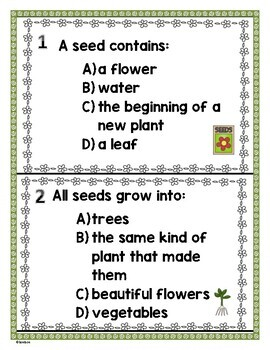 From Seed to Plant by Gail Gibbons - Common Core Story Study - Literature Scoot