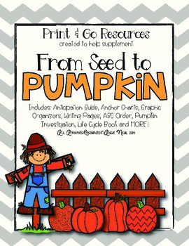 From Seed to Pumpkin Print and Go Resources
