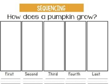 From Seed to Pumpkin Retell Activities