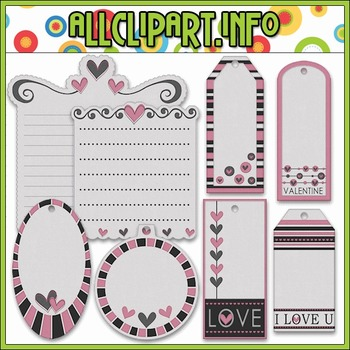 From The Bottom Of My Heart Gift Tags & Labels