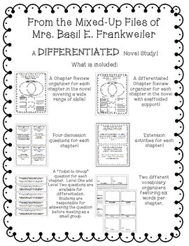From The Mixed-Up Files of Mrs. Basil E. Frankweiler DIFFERENTIATED Novel Study!