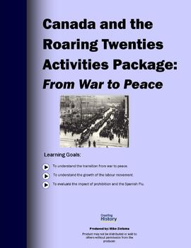 From War to Peace - Canada and the Roaring Twenties - Acti