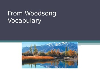 From Woodsong Vocabulary