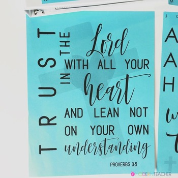 From the Bible Inspirational Teacher Binder Covers