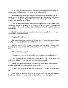 From the Cabby's Seat - O'Henry Short Story - Easy Reading Version