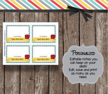 From the Desk Of EDITABLE Notes - Back to School -  FREE