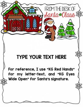"""From the Desk of Santa Claus"" Editable Stationery"