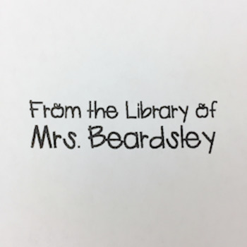 From the Library of Stamp {Personalized}