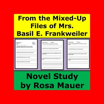 From the Mixed-Up Files of Mrs. Basil E. Frankweiler Book Unit