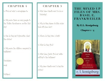 From the Mixed Up Files of Mrs. Basil E. Frankweiler Chapters 1-5