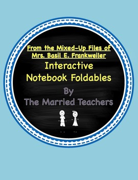 From the Mixed-Up Files of Mrs. Basil E. Frankweiler Interactive Foldables
