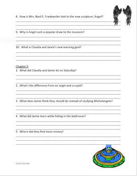 From the Mixed-Up Files of Mrs. Basil E. Frankweiler - Question & Answer Sheets