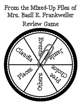 From the Mixed Up Files of Mrs. Basil E. Frankweiler Review Game