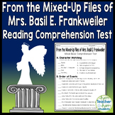 From the Mixed-Up Files of Mrs. Basil E. Frankweiler Test (Quiz)
