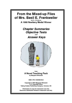 From the Mixed-up Files. . .    Chapter Summaries/Objective Tests