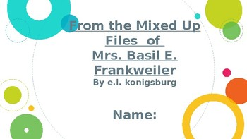 From the Mixed up Files of Mrs. Basil E. Frankweiler Hyperdoc