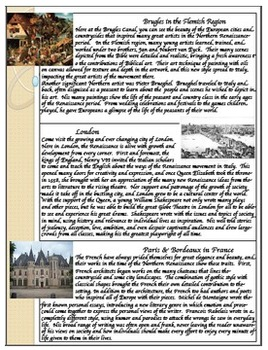 """""""Front & Back"""" Northern Renaissance Reading & Review Assignment"""