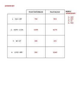 Front-End Estimation Practice