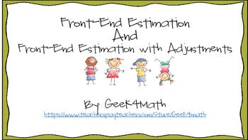 Front End Estimation Task Cards