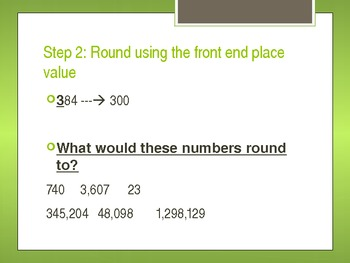 Front End Estimation with Multiplication PowerPoint