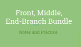 Front, Middle, End Branch Sentences (Notes and Practice)