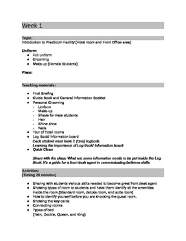 Front Office Practical Lesson Plan