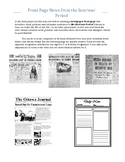 Front Page Newspaper from the Interwar Period 20's 30's