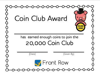 Front Row Coin Club
