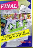 Front cover for Year 12 Yearbook