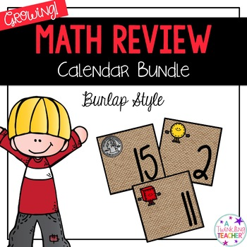 Front loading and math skills calendar review
