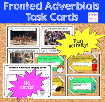 Fronted Adverbial Task Cards
