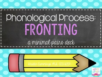 Fronting: A Minimal Pairs Pack