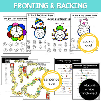 Fronting & Backing: Multi-Level Articulation Activities