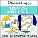 Fronting and Backing Phonology Speech Therapy