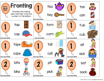 Fronting Game for Speech Therapy