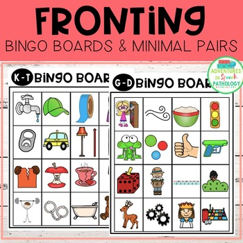 Fronting Bingo Boards & Minimal Pairs for Phonology